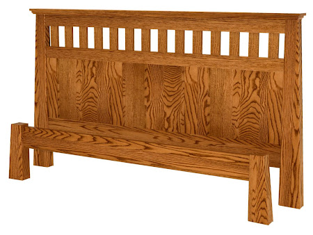 Teton Platform Bed in   Mahogany Oak