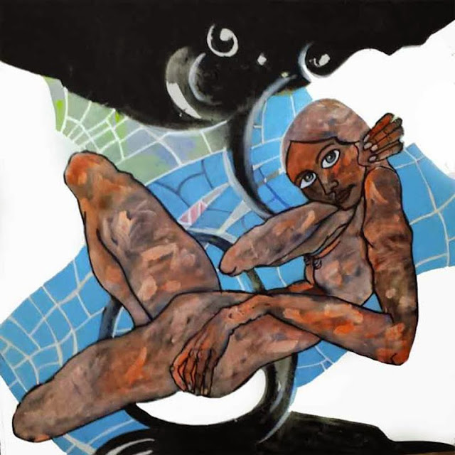 Oníric woman,pintura en acrílico de Álvaro Peña