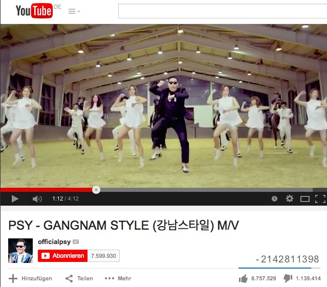 Gangnam Style Counter
