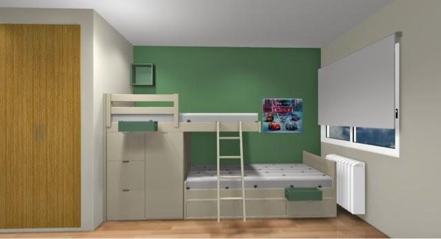 Dormitorios juveniles 3d nos permiten ver como va a quedar for Distribucion habitacion juvenil