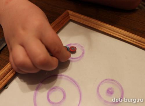 заготовки выкладываем на круги