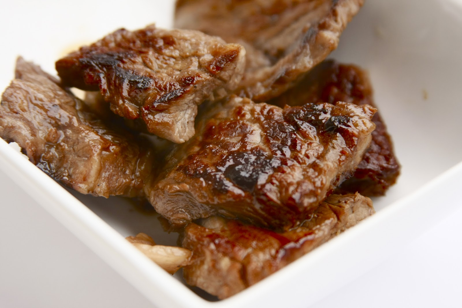 ... in Italy and Beyond: Diced Steak Marinated in Teriyaki Sauce & Lime