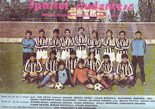1984. Sportul Studentesc footaball team