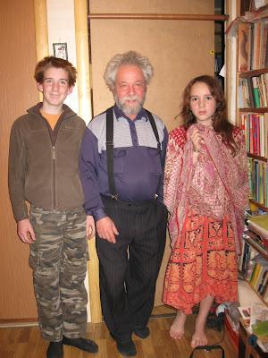 Гриша, Галя и дедушка Марк