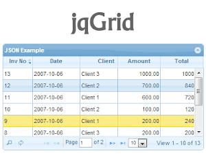 jqGrid – jQuery Grid Plugin - Dành cho hiển thị dữ liệu dạng table ! gọn nhẹ !