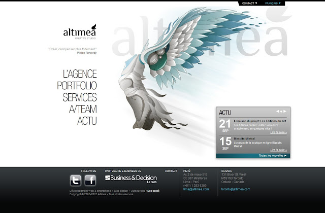 *科技感十足的「翼」Web Design|Agence Web Site 1