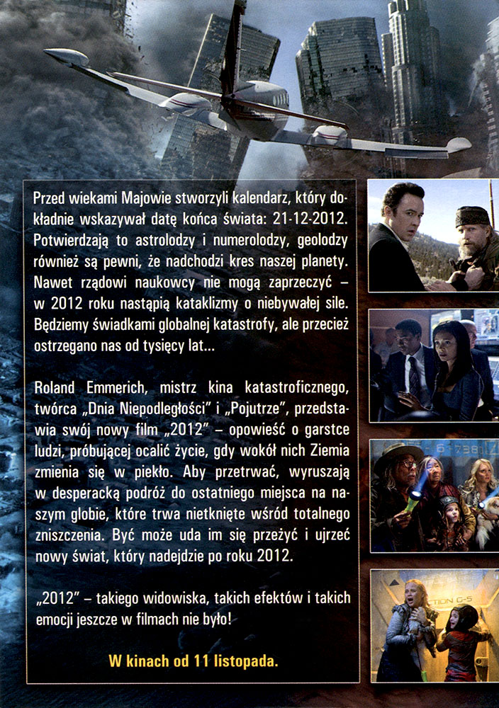Ulotka filmu '2012 (tył)'