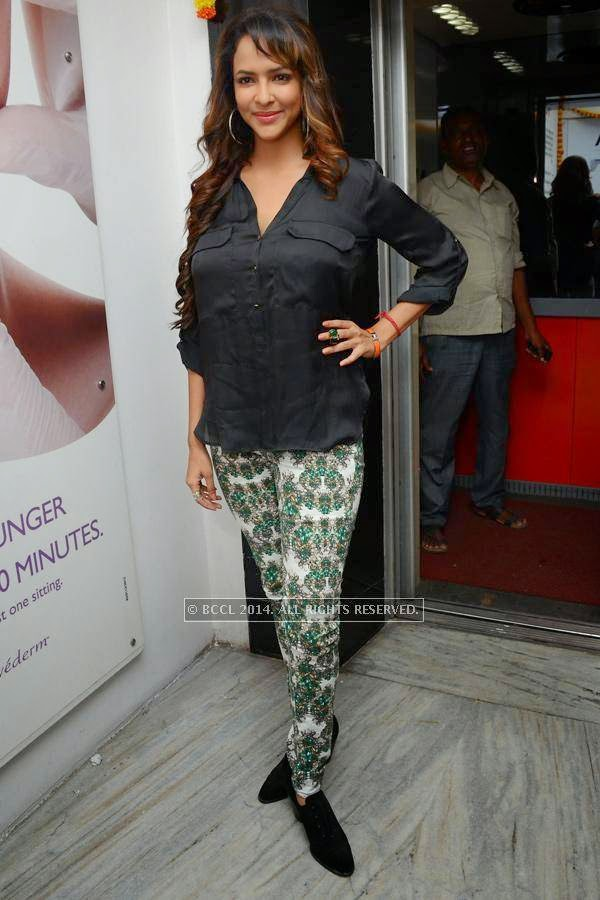 Lakshmi Manchu poses during a book launch.