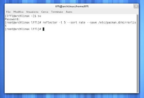 Reflector su Arch Linux