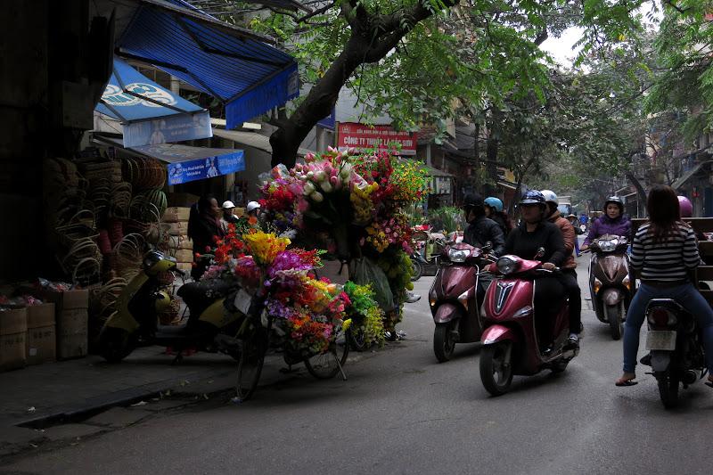 Silk flower vendor, Old Quarter