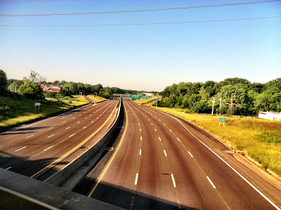 highway, 44, overpass, morning, empty, clear