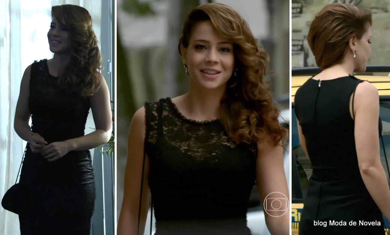 moda da novela Império - look da Cristina com vestido festa dia 19 de setembro
