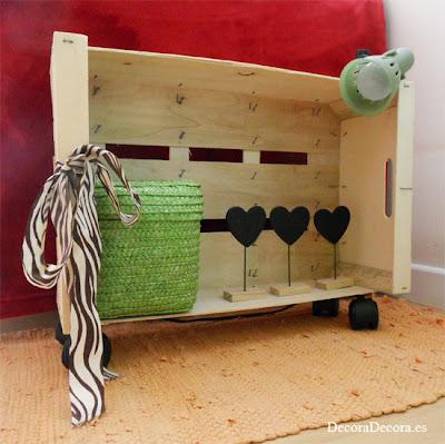 Hacer un mueble con una caja de fruta.