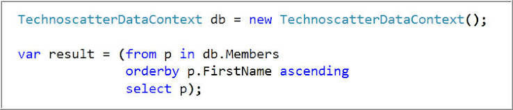 Get Member's Details on basis of First Name in Ascending Order