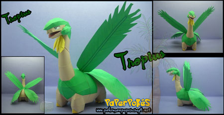 Pokemon Tropius Paper Model