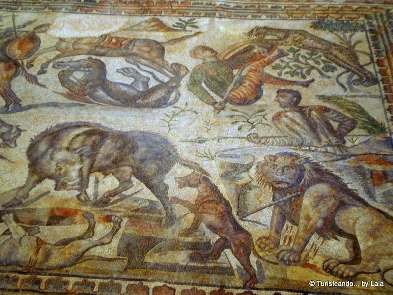 Mosaico de Aquiles, villa romana La Olmeda
