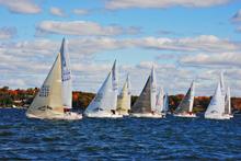 J/24s sailing regatta- Portland, Maine