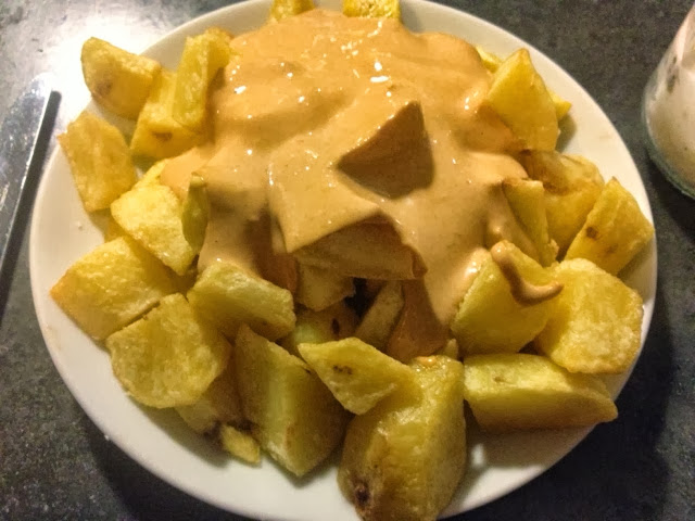 patatas bravas barcelona, woki organic