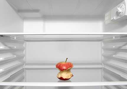 Tuščias šaldytuvas