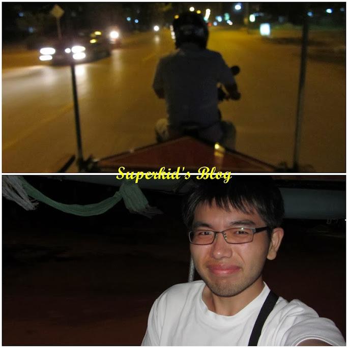 我的專屬司機的背影還有我在車上的自拍照XD