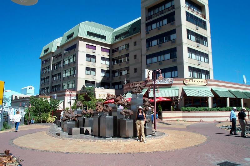Trozos de meteorito en el centro de Windhoek