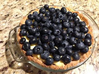 Blueberry Pastry Cream Pie