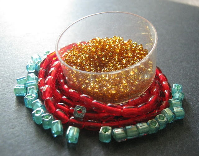 Red Leather Belt Bead Palette