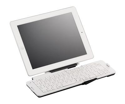 バッファロー BSKBB03WH:iPadをスタンドに置いた状態