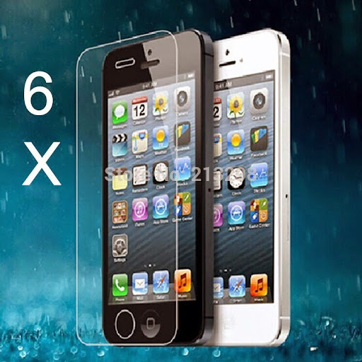 6X s tempered glass protection film for iPhone 4/4S, an