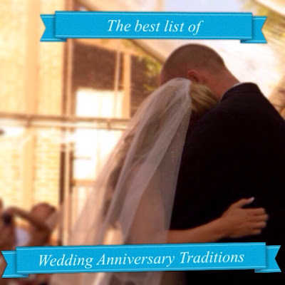A great list of the best wedding anniversary traditions, the last tradition is my favorite!! www.thebrighterwriter.blogspot.com