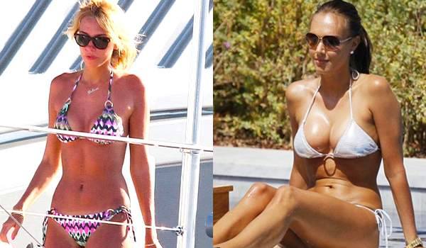 Petra and Tamara Ecclestone Show Big Bikini Cleavage in St. Tropez   #lingerie:Safe For Work,big girl,bikini girl,lingerie,cleavage