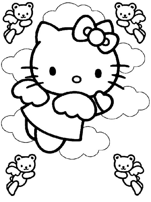 Pinto Dibujos: Imagenes de Hello Kitty Angel para colorear