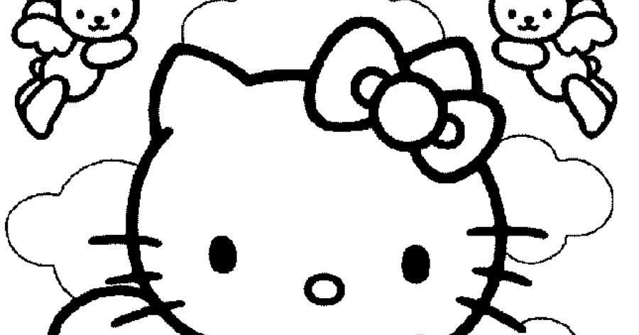 angel hello kitty coloring pages - photo#21