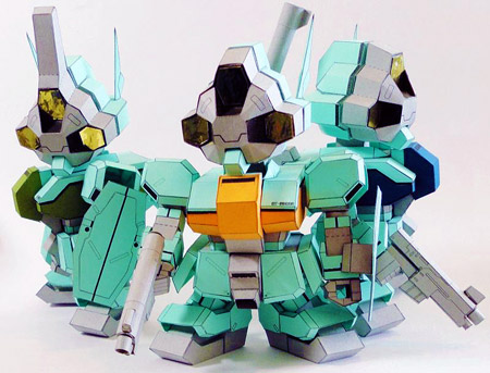 SD Daughtress Papercraft Gundam
