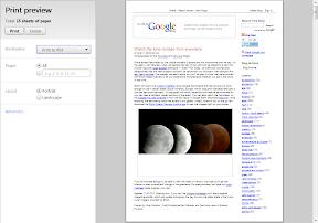 Google Chrome Druckvorschau