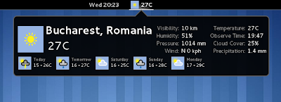 GNOME Shell weather extension