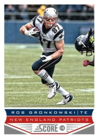 2013 Score Rob Gronkowski Base Card