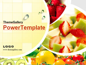 Fresh Fruit 2 - food PPT - Template PowerPoint Tema Makanan