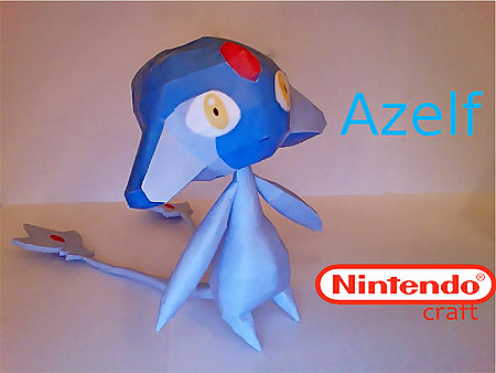 Pokemon Azelf Papercraft