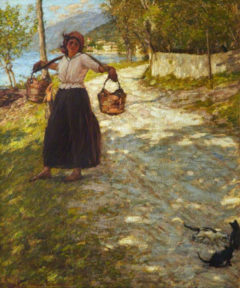 Henry Herbert La Thangue - A Veronese Road.