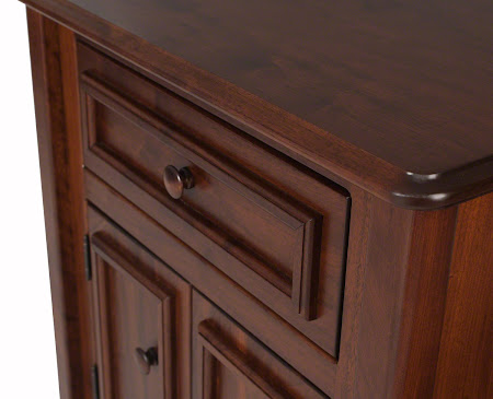 Lotus Nightstand with Doors, in Ruby Walnut