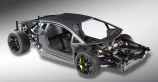 Lamborghini unveils a rolling chassis of the Murcielago's V12 succesor
