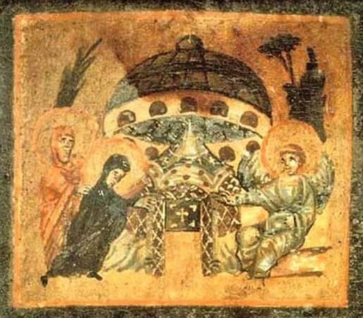 НЛО над могилой Христа