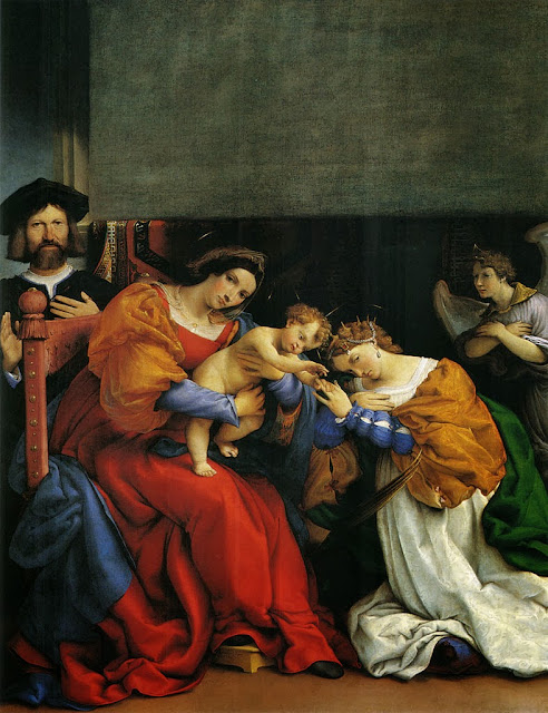 Lorenzo Lotto - The Mystic Marriage of St Catherine