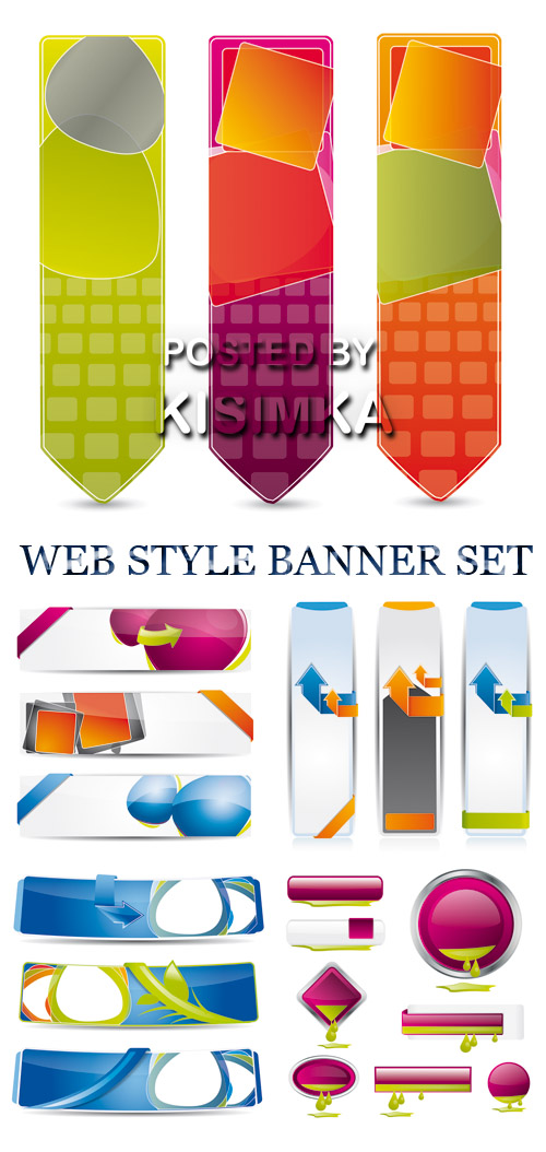 Stock: WEB STYLE BANNER SET