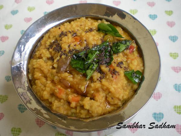 Sambhar Sadham Recipe