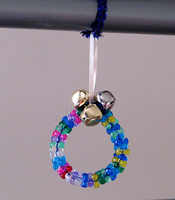 Jingle Bell and Tri bead Ornament