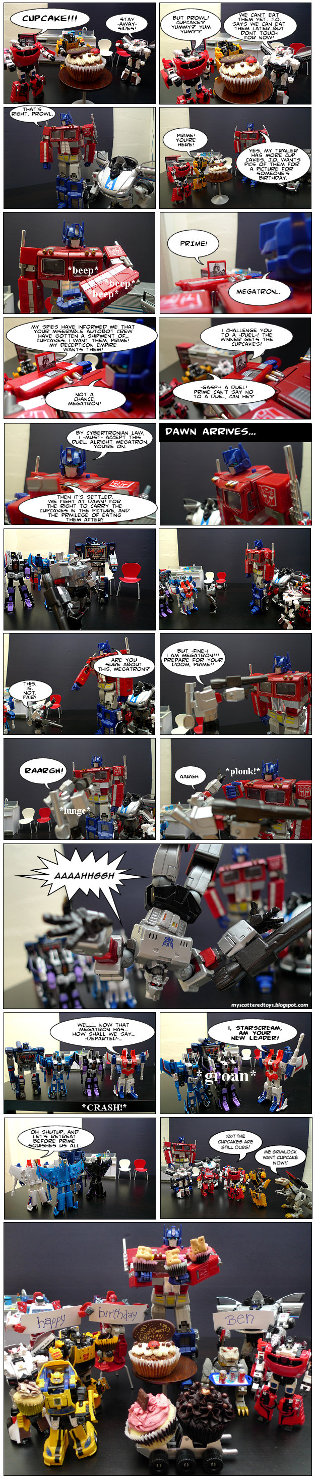 duel for the cupcakes - my toys are alive 09 transformers fan comics featuring megatron duel prime