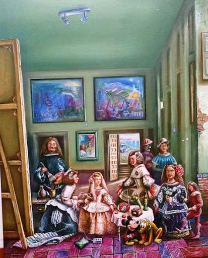 Las Meninas de Velázquez, parodia