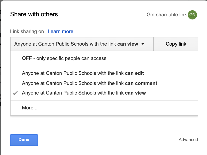 Share Google Apps for Education or Google Business account link